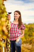 Vintner with glass of wine — Stock Photo