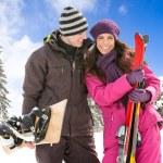Couple on ski holiday — Stock Photo #36032983
