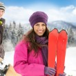 Couple in winter mountains — Stock Photo #36033223