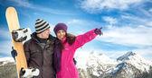 Paar in de winter — Stockfoto