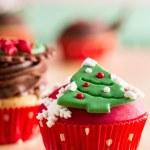 Рождественский кекс с декоративными символами — Стоковое фото #36931469