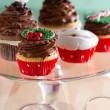 Decorative Christmas cupcake — Stockfoto