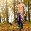 Stock Photo: Young woodcutter