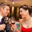 Love couple toasting — Stock Photo