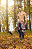 Young woodcutter — Stock Photo