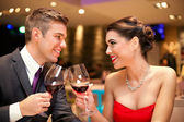 Love couple toasting — Stock Photo