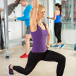 Fitness womdoing weight training — Stock Photo #39652345