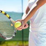 Racket and tennis ball — Stock Photo #39654203