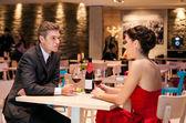 Romantický pár mluvit — Stock fotografie