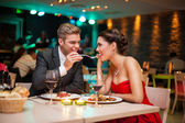 Romantic dinner — Stock Photo