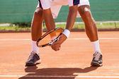 Tennis player's legs — Stockfoto
