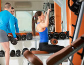 People at gym — Stock Photo