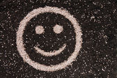 Soil smiley face — Stock Photo