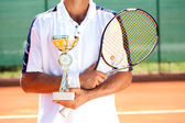 Tennis winner — Stock Photo