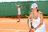 Tennis doubles  — Zdjęcie stockowe