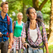 Group of friends hiking — Stock Photo #44167275