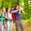 Hiking photographer — Stock Photo