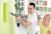 Painting home — Foto Stock