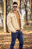 Young man wearing autumn fashionable clothing — Stock Photo