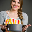 Portrait of cheerful housewife — Stock Photo #47494533