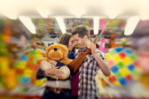 Couple in visiting an attractions park  - shoot with lensbaby — Stock Photo
