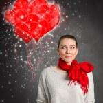 Cute love woman — Stock Photo