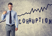Businessman anti corruption — Stock Photo