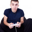 Guy playing computer game — Stock Photo #5023961