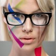 High fashion look, portrait with glasses — Stock Photo #50728655