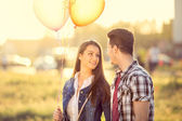Love couple at romantic dating  — Stok fotoğraf