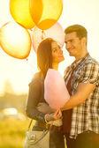 Happy loving couple outdoor — Stock Photo