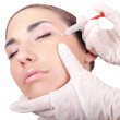 Cosmetic injection of botox — Stock Photo #5145238