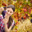 Woman with  bunch grape — Stock Photo #51552707