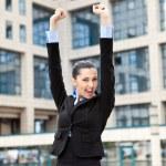 Happy success businessman — Stock Photo #5722712