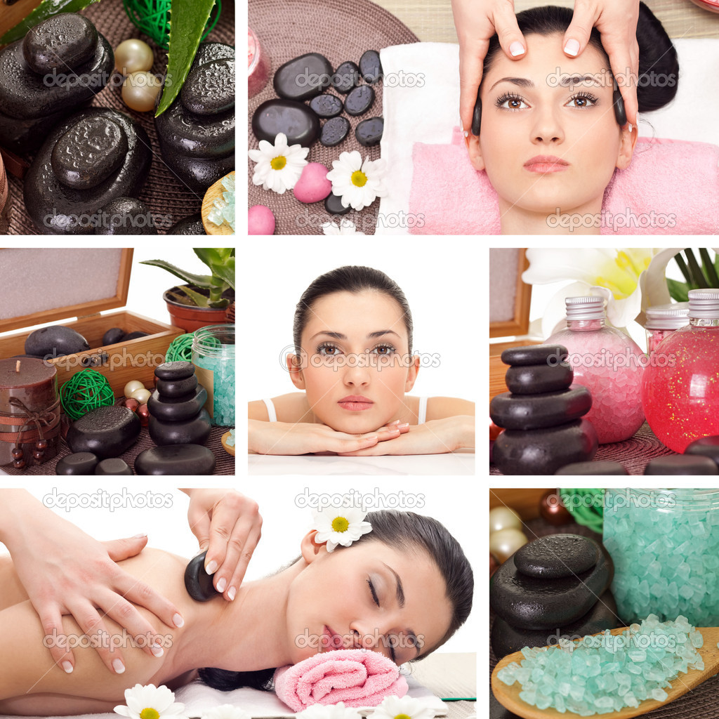 Spa collage stock photo luckybusiness 9773763 for A trial beauty treatment salon
