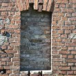 Bricked up window — Stock Photo