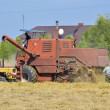 Stock Photo: Harvest - mowing combine.