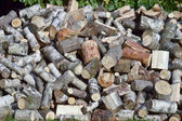 Firewood - firewood for the winter — Stock Photo