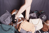 Girl with purse — Stock Photo