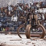 Industrial grabber — Stock Photo