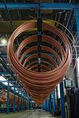 Copper pipe factory — Stock Photo