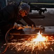 Flame cutting — Stock Photo #41438417