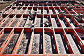 Construction formwork — Stock Photo