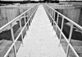 Galvanized fence  — Stock Photo