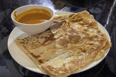 Roti Prata with Curry Gravy — Stock Photo