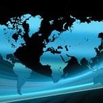 Blue world map tech — Stock Photo #2465157