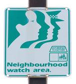 Neighbourhood watch area road sign — Stock Photo