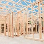 New home construction framing. — Stock Photo #18537679