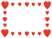 Czerwone serca granicy — Zdjęcie stockowe
