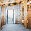 Interior of construction home — Stock Photo